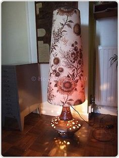 Retro VTG 60s 70s Huge West German Fat Lava Twin Bulb Floor Lamp Original Shade • £95.00