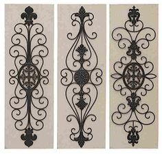 Wall Decor Metal wrought iron victorian decor | wall iron art | for the home