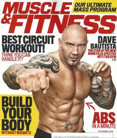 WWE SUPERSTAR DAVE BAUTISTA JAMES BOND SPECTRE Muscle & Fitness November 2015
