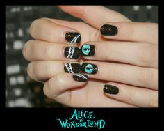 Alice in wonderland nails... If only I was more skilled