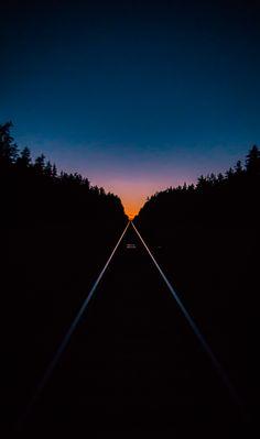 This evening railway