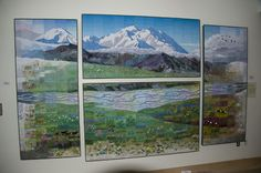 alaska quilt wall hanging | Afterwards we traveled through dense fog, and couldn't even see the ...
