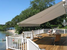 Retractable Awnings come in 1000's of color, style, and feature combinations. Motorized Retractable Awnings are a huge hit!