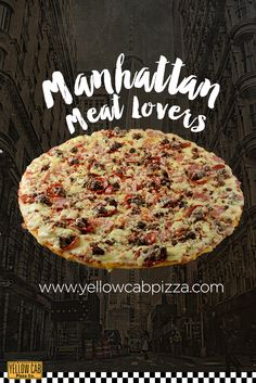 Order this crowd-favorite Manhattan Meatlovers! First on the menu ! Pizza Party Themes, Pizza Holiday, My Favorite Food, Favorite Recipes, Pizza Company, Pizza Special, Meat Lovers, Good Pizza, Manhattan