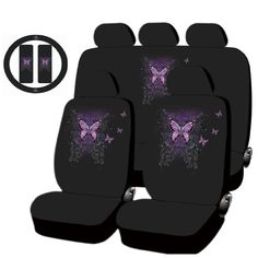 All New Mystical Butterfly Design Low Back Seat Covers Set Universal Back Seat Covers, Car Interior Decor, Cute Car Accessories, Cute Cars, Butterfly Design, Future Car, My Ride, Baby Items, Car Seats