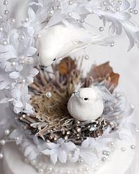 Heavenly Love Nest Cake Topper