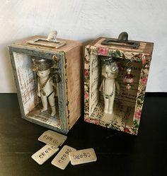 Kewpie Doll Boy Doll Assemblage Art Mixed Media Art Little