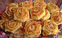 Mäkučké syrové slimáky - My site My Recipes, Dessert Recipes, Cooking Recipes, Savory Pastry, Hungarian Recipes, Food Website, Appetisers, Culinary Arts, Party Snacks