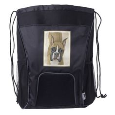#Boxer Drawstring Backpack - #boxer #puppy #boxers #dog #dogs #pet #pets #cute