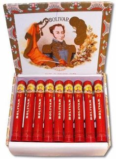 Cigarr Bolivar Tubos No.3 25-pack - Havannacigarr.se Cigar Accessories, Good Cigars, Pipes And Cigars, Cuban Cigars, Wine And Liquor, Cigar Boxes, Wines, Journal, Red