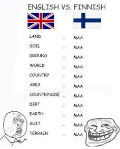 English vs Finnish