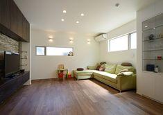CASE403 オリーブグリーンな家 Bunk Beds, Olive Green, Corner Desk, Divider, Interior, Room, Furniture, Home Decor, Corner Table