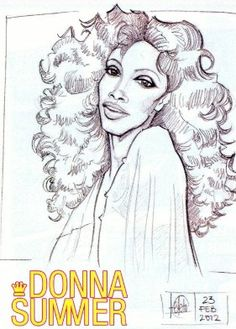 Pen and Ink drawing #DonnaSummer #Disco