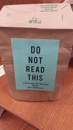 Ah, Banned Books Week . It's coming up, just next week! Remember when I shared my library's display from a couple years back ? Well here's w...