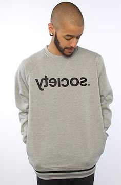 The Backwards Crewneck Sweatshirt in Gray