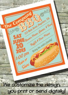 """Summer BBQ Flyer Block Party ~ 4th of July ~ EVENT Flyer ~ Poster ~ 8.5""""x11"""" or 5""""x7"""" ~ Digital Invite Template ~ Invitation by DitDitDigital on Etsy"""