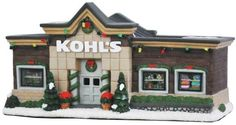 Bought for me by Pam.  St. Nicholas Square®️️ Village Kohl's Department Store Incorporate your love of shopping into your Christmas decor collection with this St. Nicholas Square Village Kohl's Department Store. Festive design Porcelain 180-in. cord length Uses one 4W light bulb (included) Wipe clean Size: One Size. Color: Multicolor. Affiliate