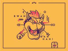 Bowser by Tsuriel #Design Popular #Dribbble #shots