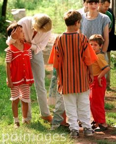 Diana, Princess of Wales, with landmine victims from the Soljankic family in Tuzla, Bosnia.