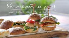 Mini-burgers de poulet aux pickles de bette à carde | Cuisine futée, parents pressés