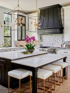 The 4 Decisions that Will Define Your Kitchen Remodel - BetterDecoratingBibleBetterDecoratingBible Home Decor Kitchen, Interior Design Kitchen, New Kitchen, Kitchen Ideas, Gold Kitchen, Country Kitchen, Condo Interior, Best Kitchen Designs, Awesome Kitchen