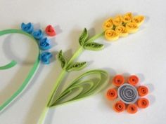 Paper Quilling - How to Make Fringed Flowers for Quilled Designs and Projects