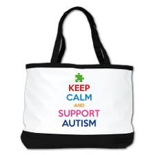 Keep Calm And Support Autism Shoulder Bag