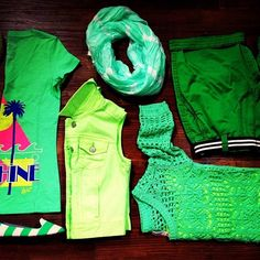 I have the shirt on the left! Aeropostale Outfits, Spring Fashion Outfits, Summer 3, Kinds Of Clothes, Go Green, Virtual Closet, My Style, How To Wear, Shirts