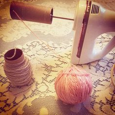 Maize Hutton: Use an Electric Mixer to Wind Yarn!