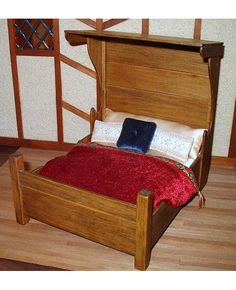 Tudor HalfTester Bed Dollhouse Miniature 1/12 by CalicoJewels, $70.00