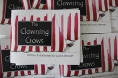 The Clowning Crows  written & illustrated by Lucia by stressiecat - The Clowning Crows  written & illustrated by Lucia by stressiecat http://etsy.me/17tfG6s via @Etsy