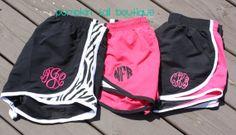 monogram athletic shorts