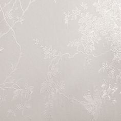 Spring Blossom White Shimmer Wallpaper