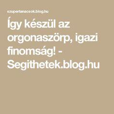 Így készül az orgonaszörp, igazi finomság! - Segithetek.blog.hu