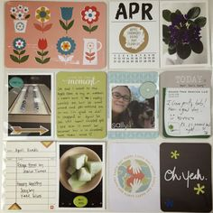Mrs Crafty Adams: April Project Life Pages - Studio Calico Lisse Street Project Life kit