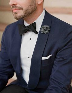 "10 Tips for Choosing a Wedding-Day Look You Won't Regret in 25 Years | Martha Stewart Weddings - ""Make sure your groom's style matches yours! Next to your bespoke dress a rented tuxedo will dampen the impact of your overall look. A great suit or custom tuxedo in classic black or blue will always complement. not detract, from your bridal style!"" —Julian Leaver, The Dapper Diplomat"