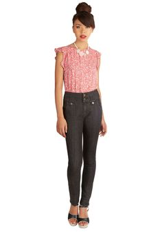 That Coveted Look Jeans. Its no wonder that the most desirable duds in todays clothing swap are from the girl in the sleek black skinnies! #black #modcloth