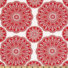 Tonal Kaleidoscope in Peppermint Christmas by by fivemonkeyfabrics