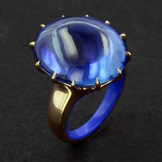 Taffin,  sapphire cabochon ring