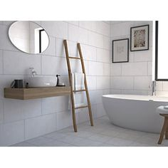 Wickes York Grey Ceramic Wall and Floor Tile 300 x 300mm | Wickes.co.uk