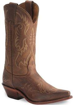 Nocona Brown Vintage Legacy Western Boot Snip Toe - Polyvore