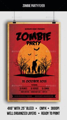 Halloween Party Z Zombie Themed Poster  Flyer  Flyers Flyer