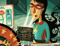 Power Girl - The Extraordinaires by Steve Simpson, via Behance