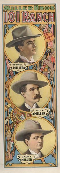Miller Bros. 101 Ranch vintage poster, 19th century Joe Miller, Wild West Show, East Of Eden, Circus Poster, Vintage Posters, Ranch, It Works, Poster Prints, History