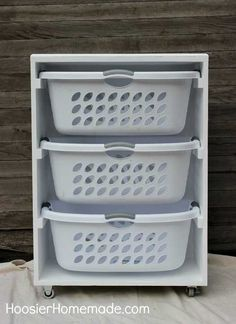 DIY mobile laundry station to simplify your routine.a DIY mobile laundry station to simplify your routine. Laundry Room Shelves, Laundry Storage, Laundry Room Organization, Diy Organization, Laundry Rooms, Laundry Area, Laundry Closet, Bath Storage, Organizing Tips