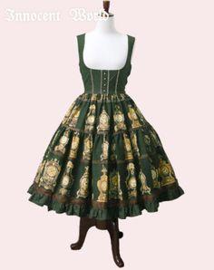 Innocent World Antique Clock ティアードジャンパースカート