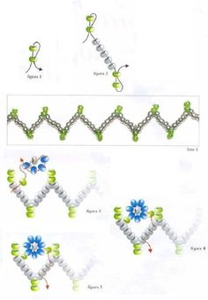 seed bead bracelet patterns for beginners Beading Patterns Free, Beading Tutorials, Free Pattern, Weaving Patterns, Bead Patterns, Bead Jewellery, Seed Bead Jewelry, Bordados Tambour, Ideas Joyería