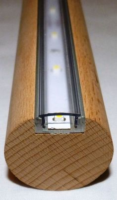 LED Handlauf Buche 1 Mtr ca. Stair handrail with LED/SMD's, approx 60 per meter. Great idea for lighting up the stairs at night or down to the cellar & a nce alternative to switching on the main lighting too ;
