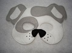Hey, I found this really awesome Etsy listing at https://www.etsy.com/listing/184977904/childrens-white-dog-animal-felt-mask