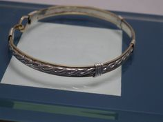 Gold Fill & Braided Sterling Silver Bracelet by SteinGemJewelry on Etsy